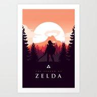 The Legend Of Zelda - Or… Art Print