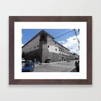 Blue Corner Cuzco. 2011 Framed Art Print