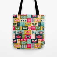 Lepidoptery Tiles By And… Tote Bag