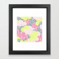 Bright Neon Yellow Henna… Framed Art Print