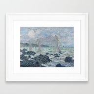 Fishing Nets At Pourvill… Framed Art Print