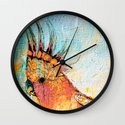Frenzied Birds VI Wall Clock
