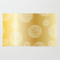 SPOTTED CIRCLES - GOLD Rug