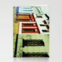 Multicolored houses. Stationery Cards
