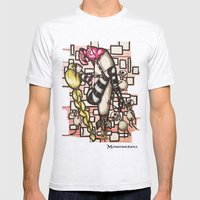 Bomb Girl Mens Fitted Tee Ash Grey SMALL
