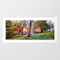 Winter Gardens. Art Print