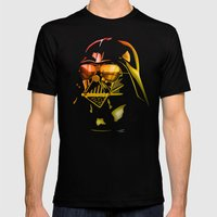 STAR WARS Darth Vader on black Mens Fitted Tee Black SMALL