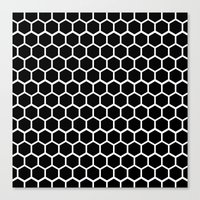 Graphic_Cells Black&Whit… Canvas Print