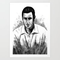 DARK COMEDIANS: Adam Sandler Art Print