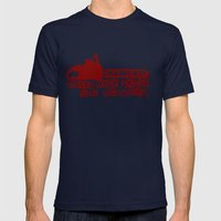 chainsaw wins Mens Fitted Tee Navy SMALL