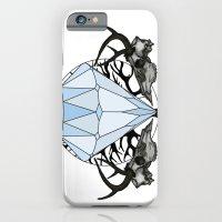 iPhone & iPod Case featuring Diamond and skulls by Dario Olibet