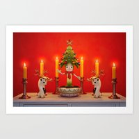 The Little Christmas Tre… Art Print
