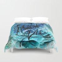 Turquoise Hamsa Duvet Cover