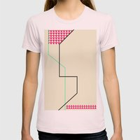 Triangles Womens Fitted Tee Light Pink SMALL