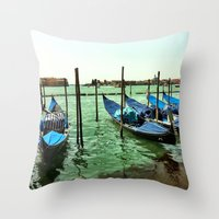 Gondolas Venice Throw Pillow