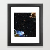 Framed Art Print featuring Lost In Space by Anipani