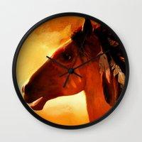 HORSE - Apache Wall Clock