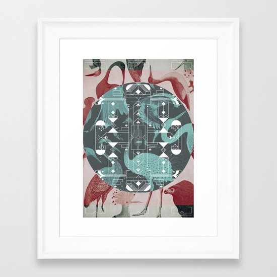 Eumaniraptora Framed Art Print