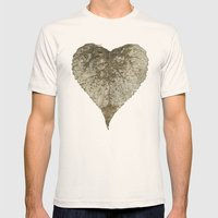 heart nature Mens Fitted Tee Natural SMALL