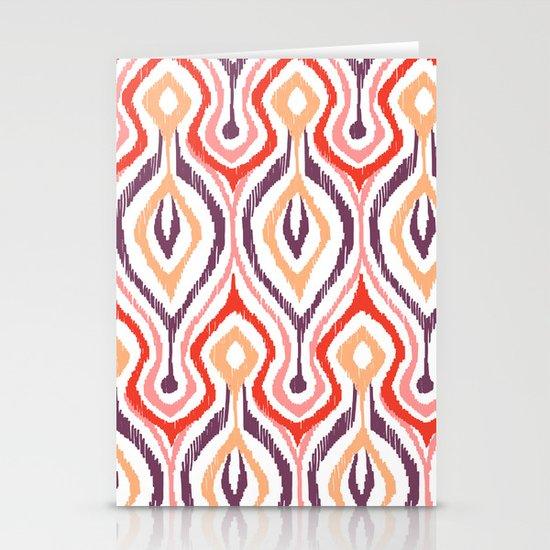 Sketchy Ikat - Nebula Stationery Card