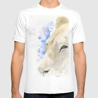 Lioness Mens Fitted Tee White SMALL