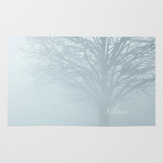 Tree / Winter Silence Area & Throw Rug