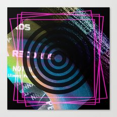 Abstract Record Label Canvas Print