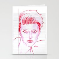 Fashion Hair With Loose … Stationery Cards