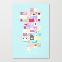 For Japan With Love 4 Canvas Print