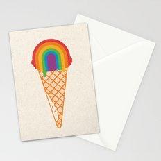 Rainbow Scoop Stationery Cards