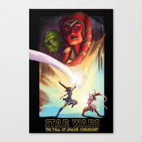 the Fall of Coruscant Canvas Print