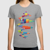 After The Earthquake Womens Fitted Tee Tri-Grey SMALL