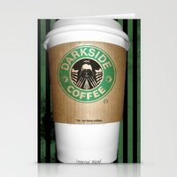 Black Coffee Stationery Cards