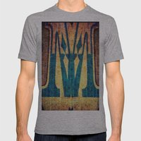 M of Spade  Mens Fitted Tee Athletic Grey SMALL