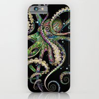 iPhone Cases featuring Octopsychedelia (black) by TAOJB