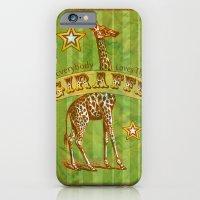 iPhone & iPod Case featuring Giraffe by Bili Kribbs