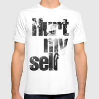 Hurt My Self! Mens Fitted Tee White SMALL
