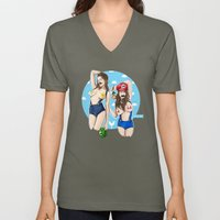 We're Here to Clean Your Pipes Unisex V-Neck