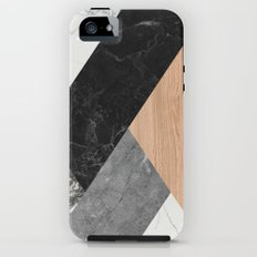 Marble and Wood Abstract iPhone (5, 5s) Tough Case