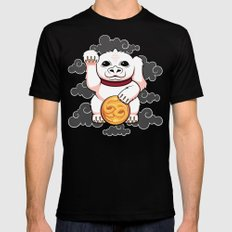 Lucky Dragon Black Mens Fitted Tee SMALL