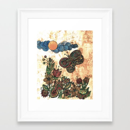 Magical garden Framed Art Print