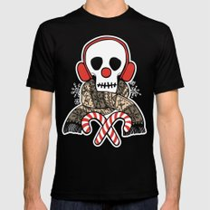 Stay Warm Holiday Skull Mens Fitted Tee Black SMALL