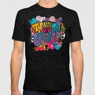 Things Might Get Weird Mens Fitted Tee Tri-Black SMALL