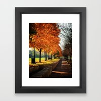 Urban Fall Framed Art Print