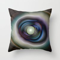 Agate And Pearl - Fracta… Throw Pillow