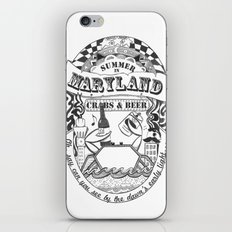 Maryland Crabs & Beer iPhone & iPod Skin