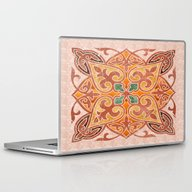 Laptop & iPad Skin featuring Brown Mandala 02 by Aloke Design