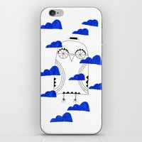 Blue Clouds iPhone & iPod Skin