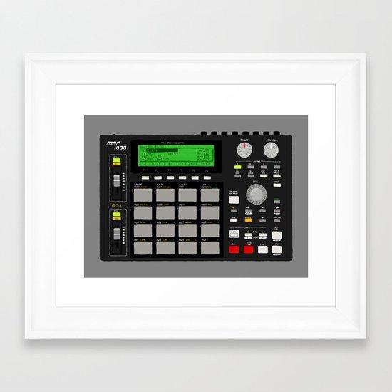 Akai MPC 1000 Framed Art Print