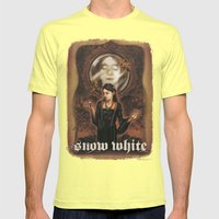Snow White Mens Fitted Tee Lemon SMALL